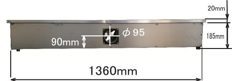 GS1490 ハニカムテーブル背面