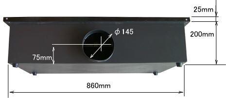 GS9060 ハニカムテーブル背面