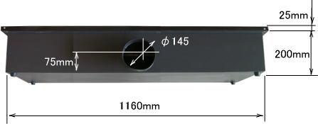 RS1290 ハニカムテーブル背面
