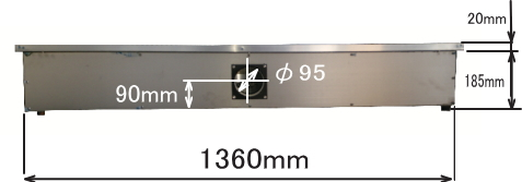 RS1490 ハニカムテーブル背面