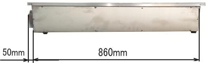 RS1490 ハニカムテーブル側面