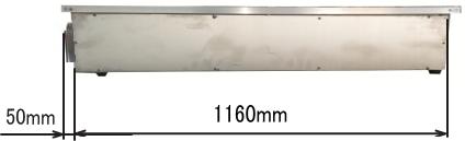 RS1812 ハニカムテーブル側面